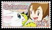 Kari and Gatomon Stamp by funlakota