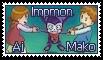 Impmon, Ai, and Mako Stamp by funlakota