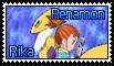 Rika and Renamon Stamp by funlakota