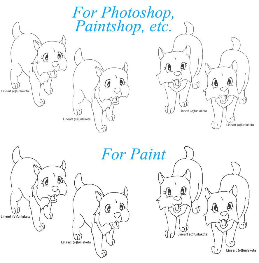 Anime Base Ms Paint Wolf Pup Wwwtollebildcom