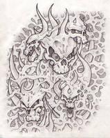 Skulls stretchy skin by daVincidotcom