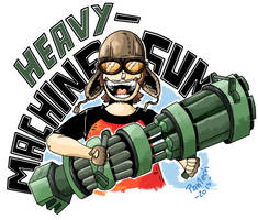 HEAVY MACHINE GUN! by DonPanteon