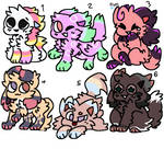 [6/6 OPEN] 50 Point Kittydog Adopts by Elizabeth-Adopts