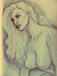 Girl nude sketch by TORA-KUN