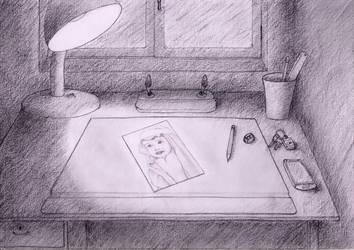 My Desk by Sinior90