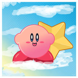 kirby in the sky by miemie-chan3
