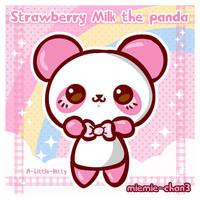 kawaii Strawberry Milk panda by miemie-chan3