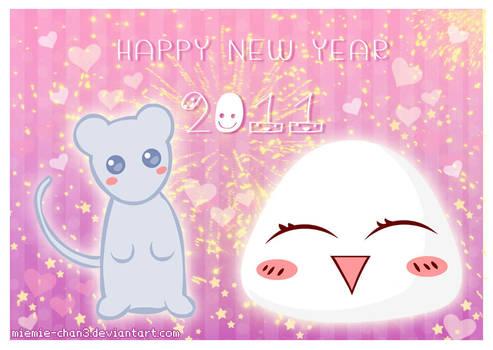 Kawaii Happy New Year 2011 by miemie-chan3