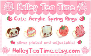 Cute Acrylic Rings Set 1 by miemie-chan3