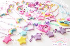 Kawaii Fairy Kei Polymer clay jewlery by miemie-chan3