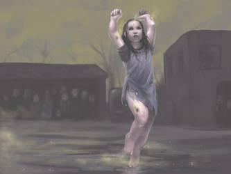 Dancing in the rain by Ilraeth