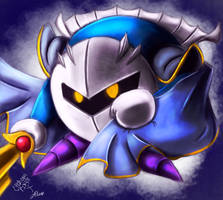 'He is now... Sword Kirby!' Meta Knight fanart by ChronoPinoyX