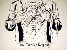 You Give Me Butterflies by JoshCarterArt