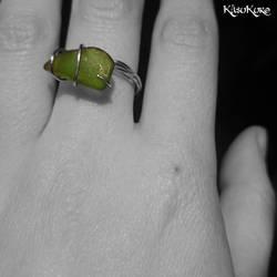 bohemian wirewraped ring by Jojo-Jellybean