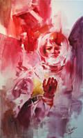 red astronaut by kyzylhum