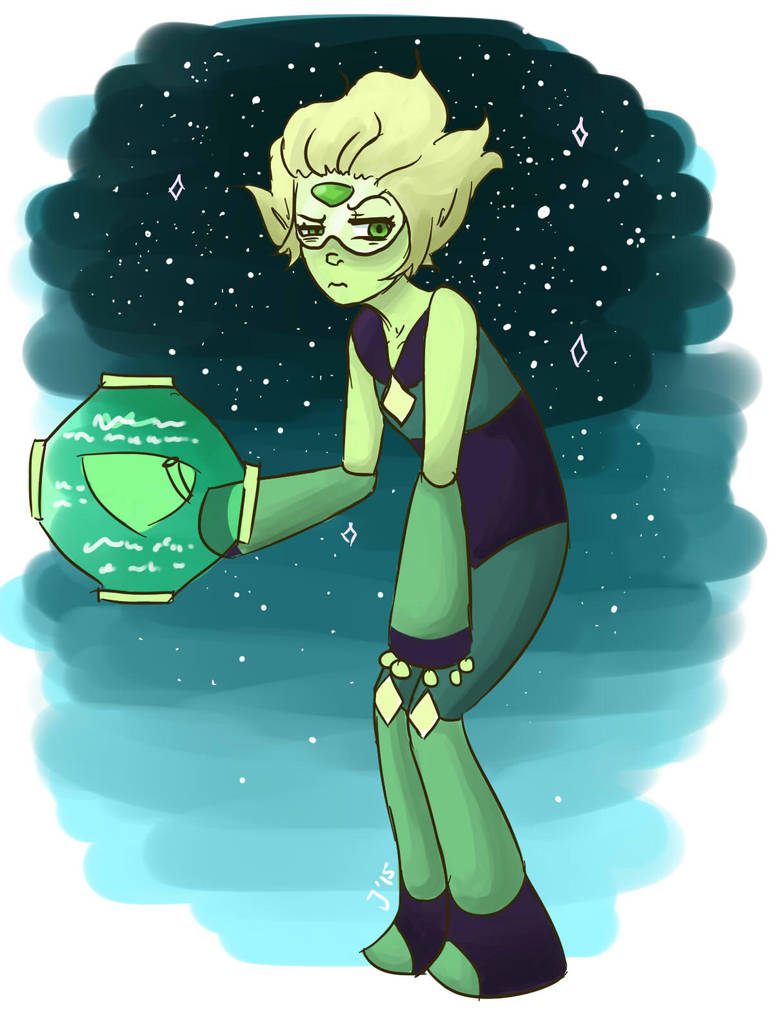 Watching Steven Bomb and immediately wanted to have a go at drawing Peridot Ok but can we talk about how horrifying Keeping It Together was like aAAAAAAAA