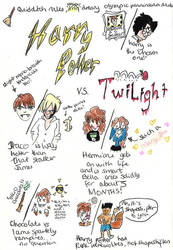 Harry Potter VS Twilight by madperson42