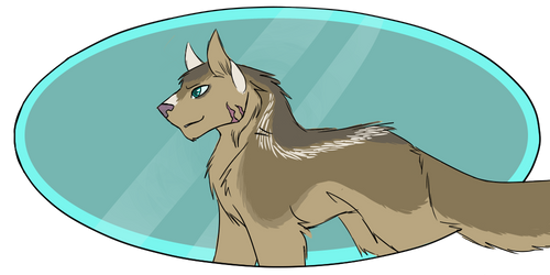 Wolf Doodle by Shadeheart10