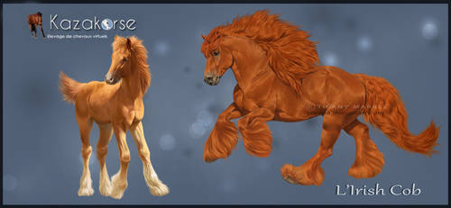 Kazakorse V3 : Irish Cob with Foal by Seenae