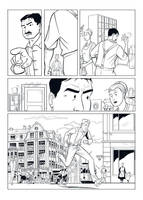 Comic-page k02 inks by MichaelVogt