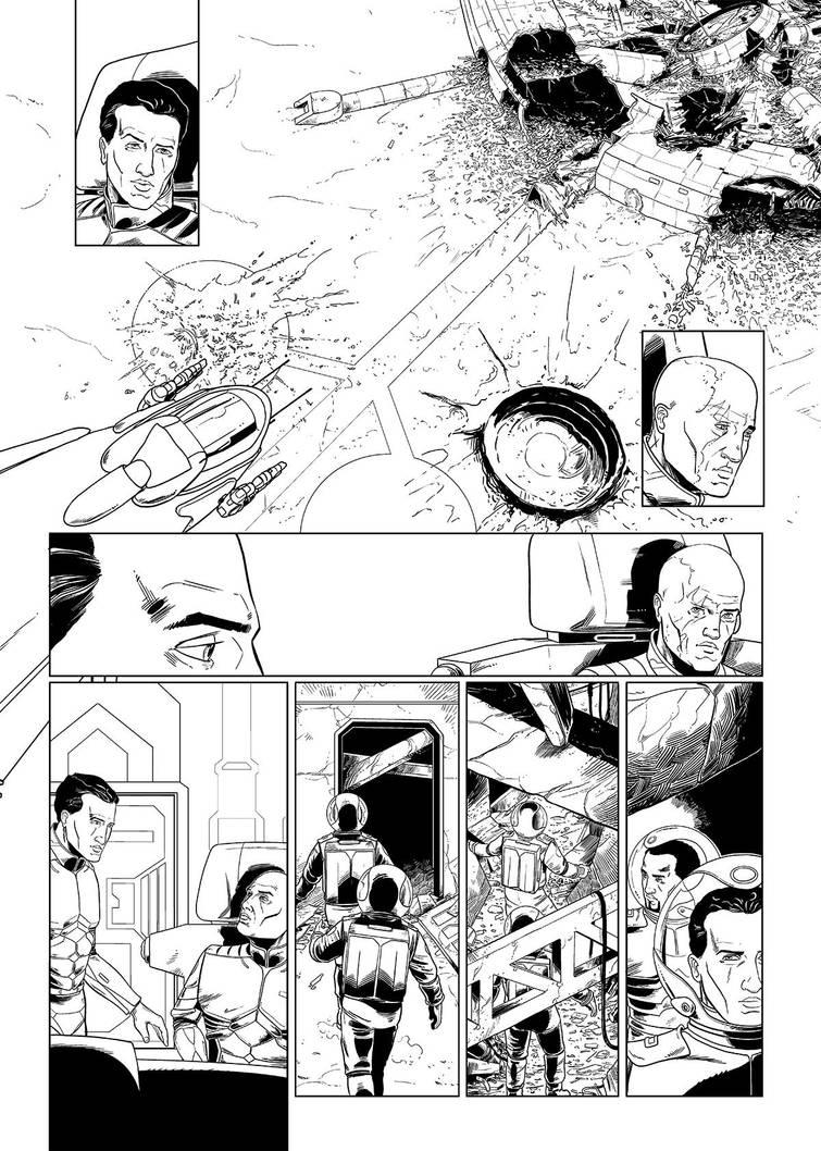 Mark Brandis Vol.2 pg.28 b/w by MichaelVogt