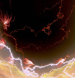 Fire and Lightning by aMoniker