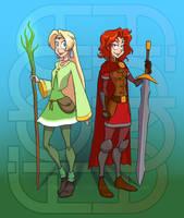 Fiona and Fiana by falingard