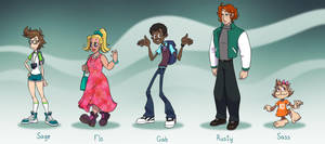 Sage and the Meddling Kids by falingard