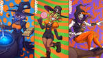 Trick-or-Treat Triple Threat Triptych Tonight by falingard