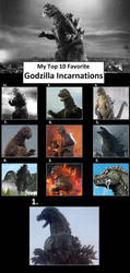 Top 10 Godzilla Incarnations by Leviarex