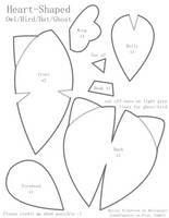 Heart-Shaped Owl Pattern by BaileyNickerson