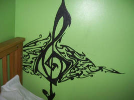 Treble clef- Mural by libertykill