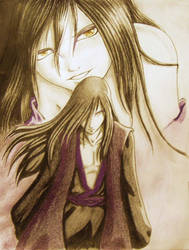 Orochimaru and young Orochi by Julie-Destron