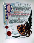 Knighthood Scroll 2 by iisaw