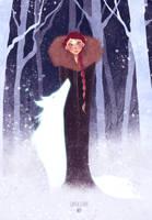 Sansa Stark + Lady by Joliet