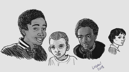 Stranger Things Sketches by somberlittleman