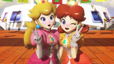 MMD - SSBU Peach and Daisy by hallowedgal