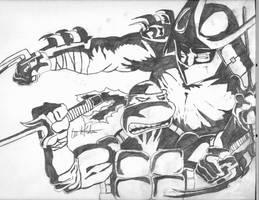 raphael vs. shredder by tmntart
