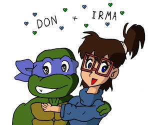 Donatello and Irma by tmntart