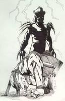 Shredder vs. Raphael by Klork by tmntart