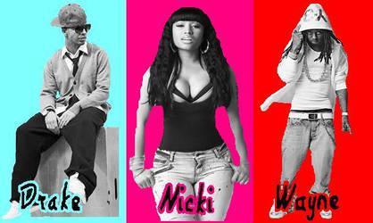 Drake,Nicki,and Lil' Wayne! by DrizzyDrake12
