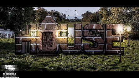 3d Name With House by mobindezfooli1384