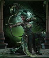 Arcanum Archer by LillithI