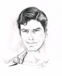 Superman Christopher Reeve illo by SammyG23