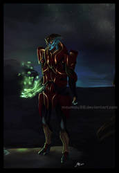 Mass Effect 3 Javik by Moumou38