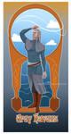 Art nouveau Grey Havens by Moumou38