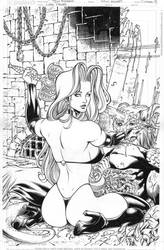 LADY DEATH 23 messy cover by PowRodrix