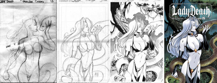 LADY DEATH #26 cover STEP-BY-STEP by PowRodrix