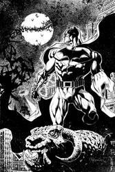 BATMAN OVER GARGOYLE 4 sale by PowRodrix
