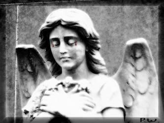 angel crying by sillycilla999